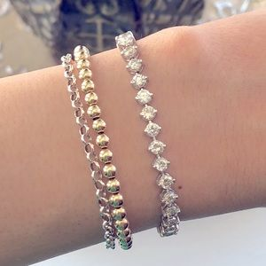 5.50ctw Diamond Tennis Bracelet 14k white gold